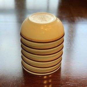 Vintage Pyrex Tableware Striped Bowls Corningware